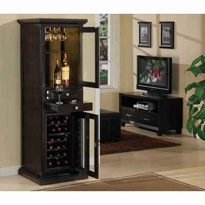 Meridian Dual Zone Thermoelectric Wine Cabinet In Espresso