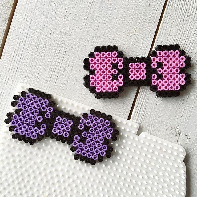 Bows hama beads by renatejosefine