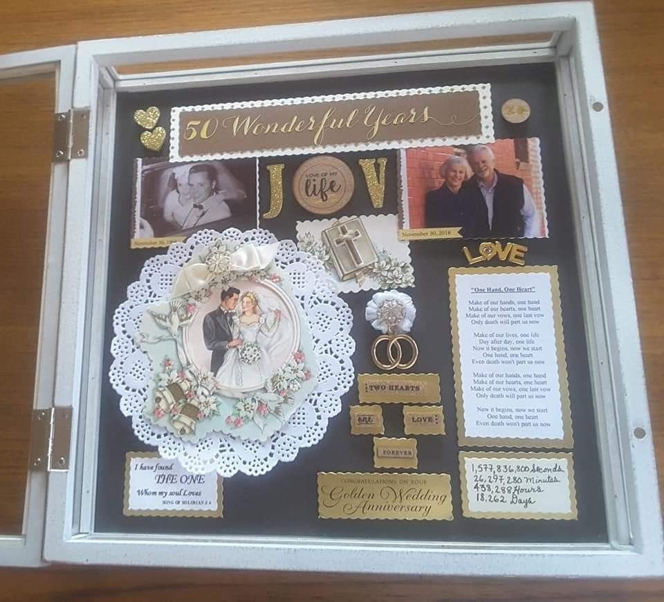 I Created This Shadow Box For A Couple For Their 50th Wedding