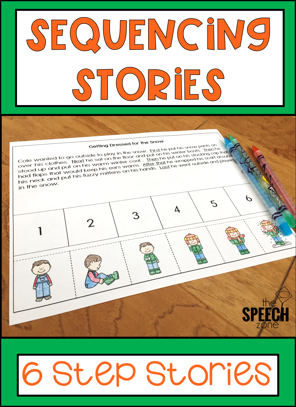 Six Step Sequencing Stories Set 1