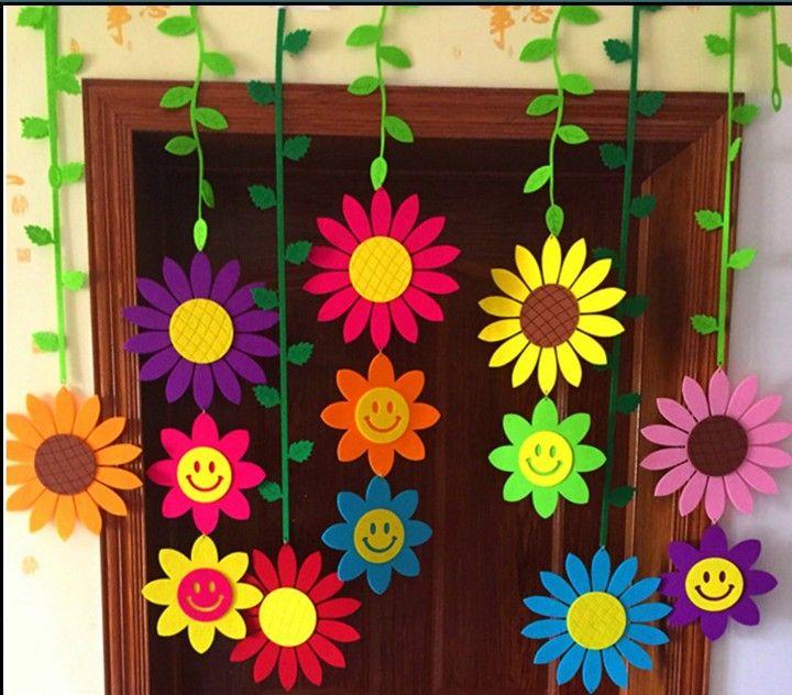 Kindergarten ornament nonwoven fabric ornaments elementary school classroom and hallway Blackboard store ornaments decorate the air curtain #decorateshop
