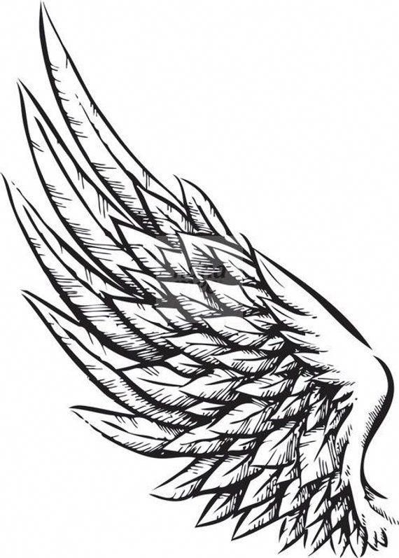 Tattoos For Men And Women Etsy Wing Tattoo Designs Wing Tattoo Men Wing Tattoo