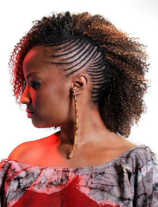 Side Swept Natural Weaves Pinterest Braids Hair Styles And Hair