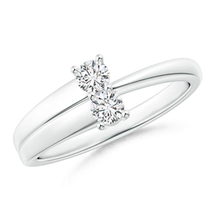Angara Three Prong Set Two Stone Diamond Infinity Loop Ring hJOx7RIP4v
