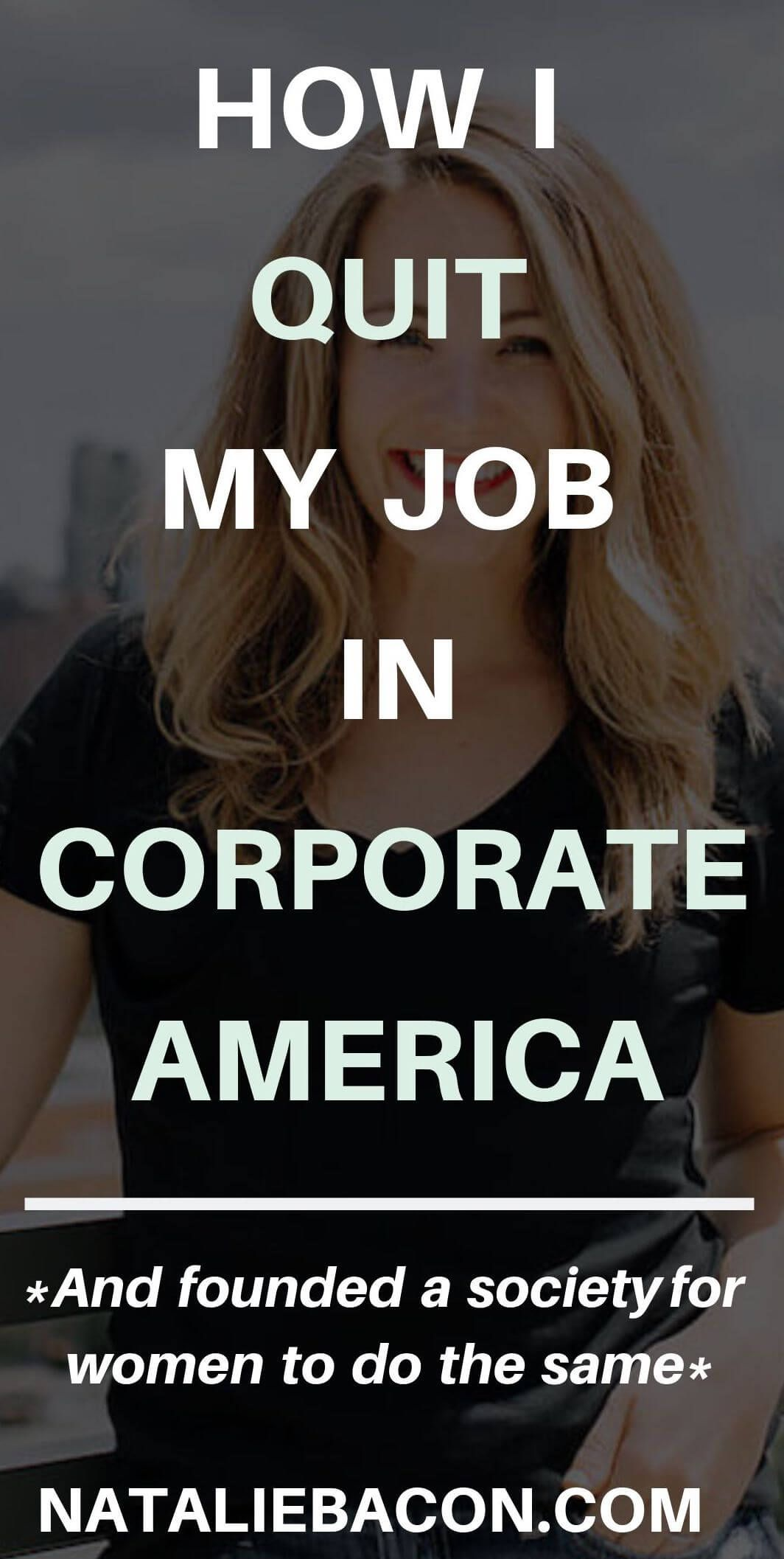 I Quit Corporate America And Founded A Society That Helps
