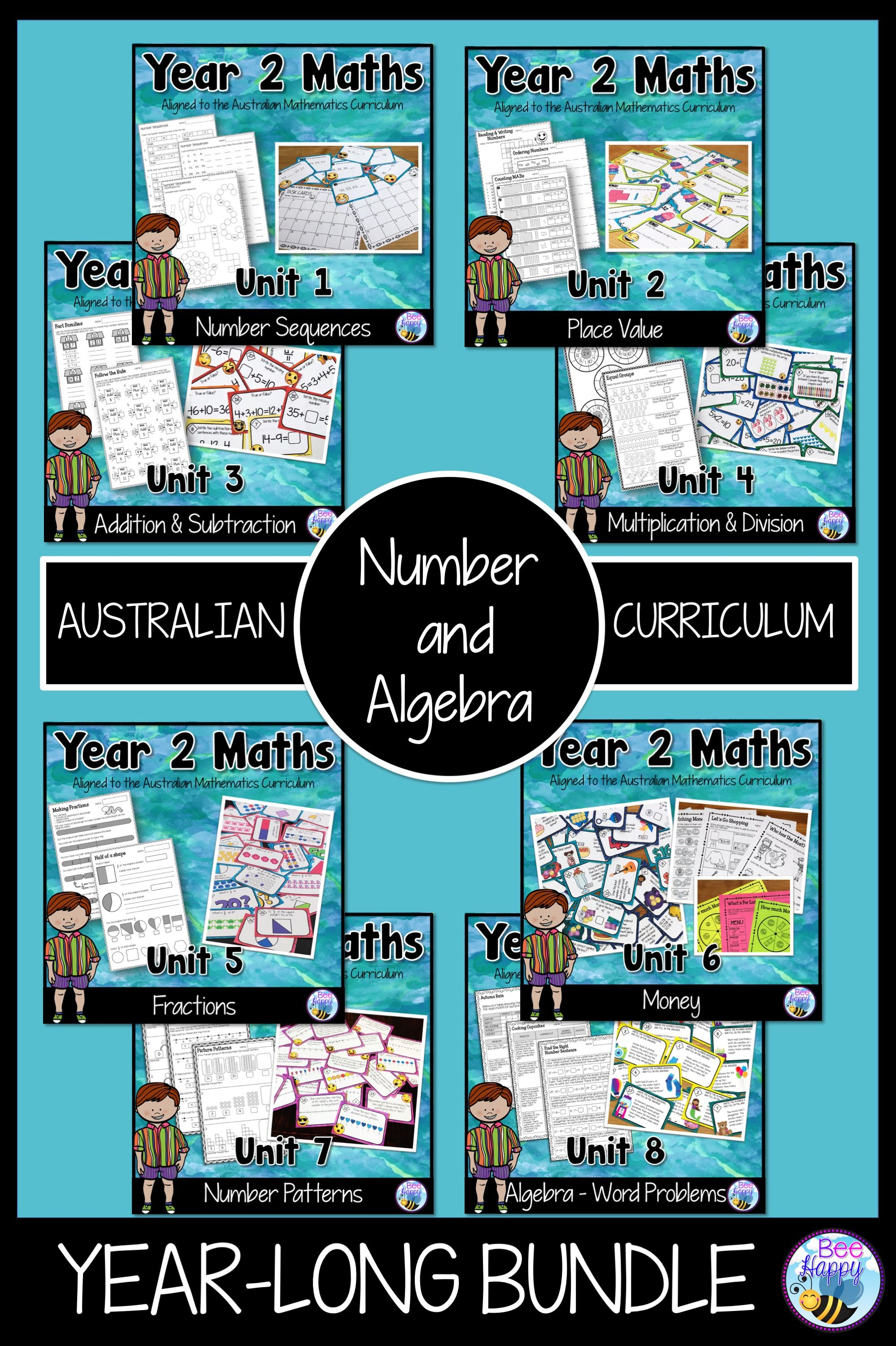 Australian Curriculum Year 2 Number And Algebra Bundle