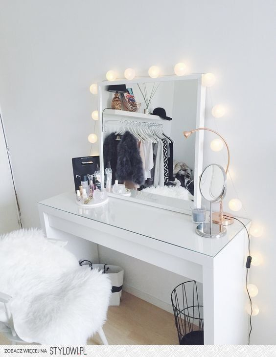 7 dreamy beauty vanities daily dream decor na stylowipl make up verlichting