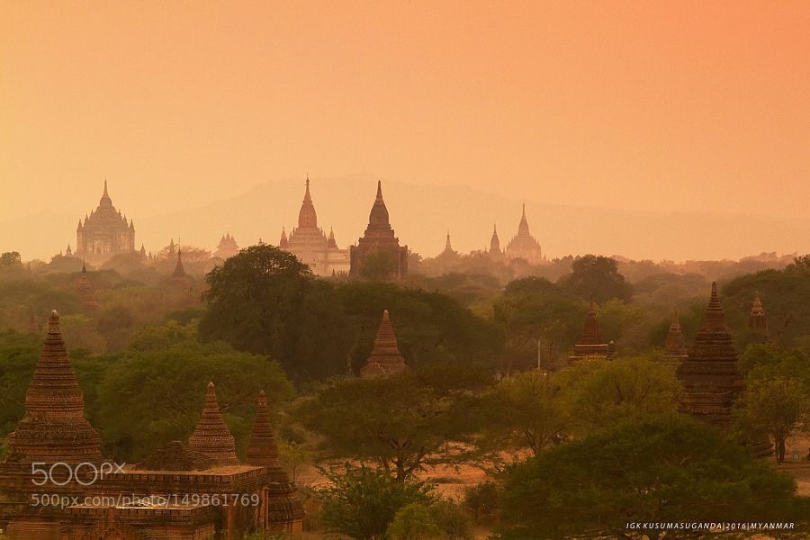 Popular on 500px : The ancient city of Bagan by igkkusumasuganda