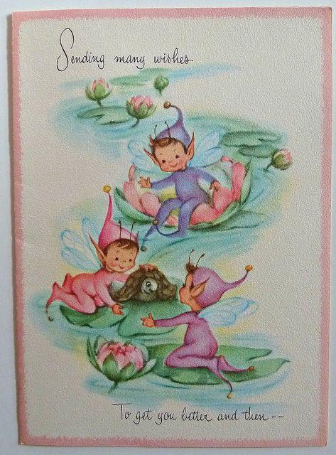 Vintage Elf/Pixie Greeting Card by MissConduct*, via Flickr