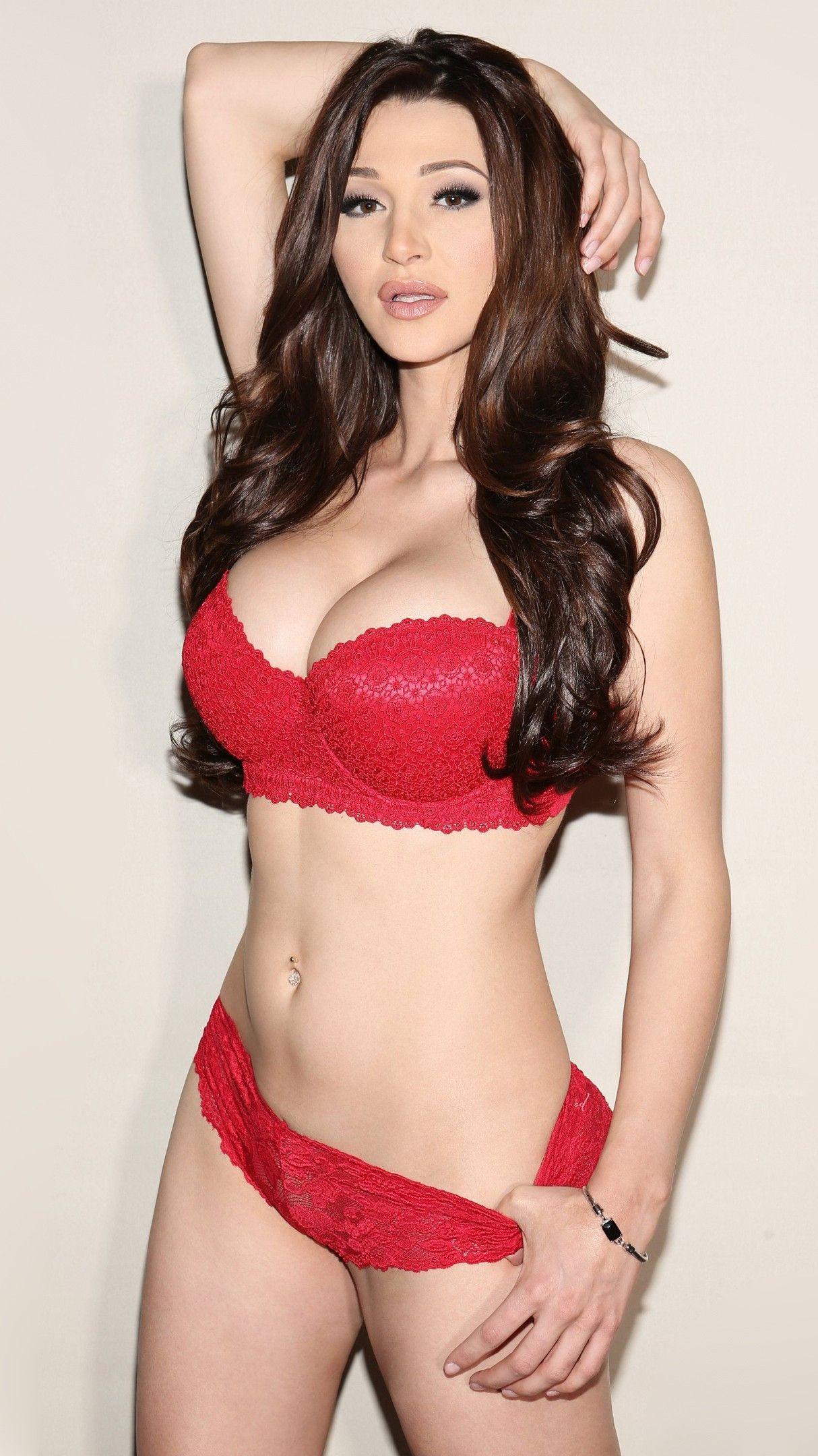 jenna-jenovich-hot-red-bikini-girl-beautiful-iphone-wallpaper