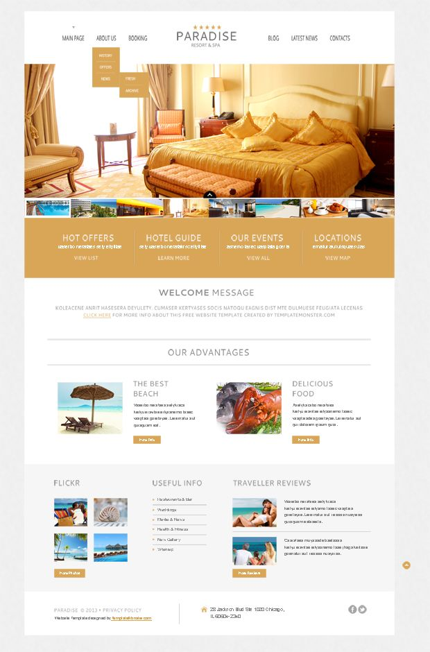 Free WordPress Theme for Hotel – a Warm Welcome to Your Clients ...