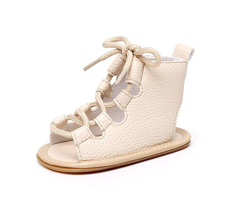 99b407d6e64fa Amazon.com: LNGRY Child Baby Girl Casual Sandals Bandage Cross-Tied ...
