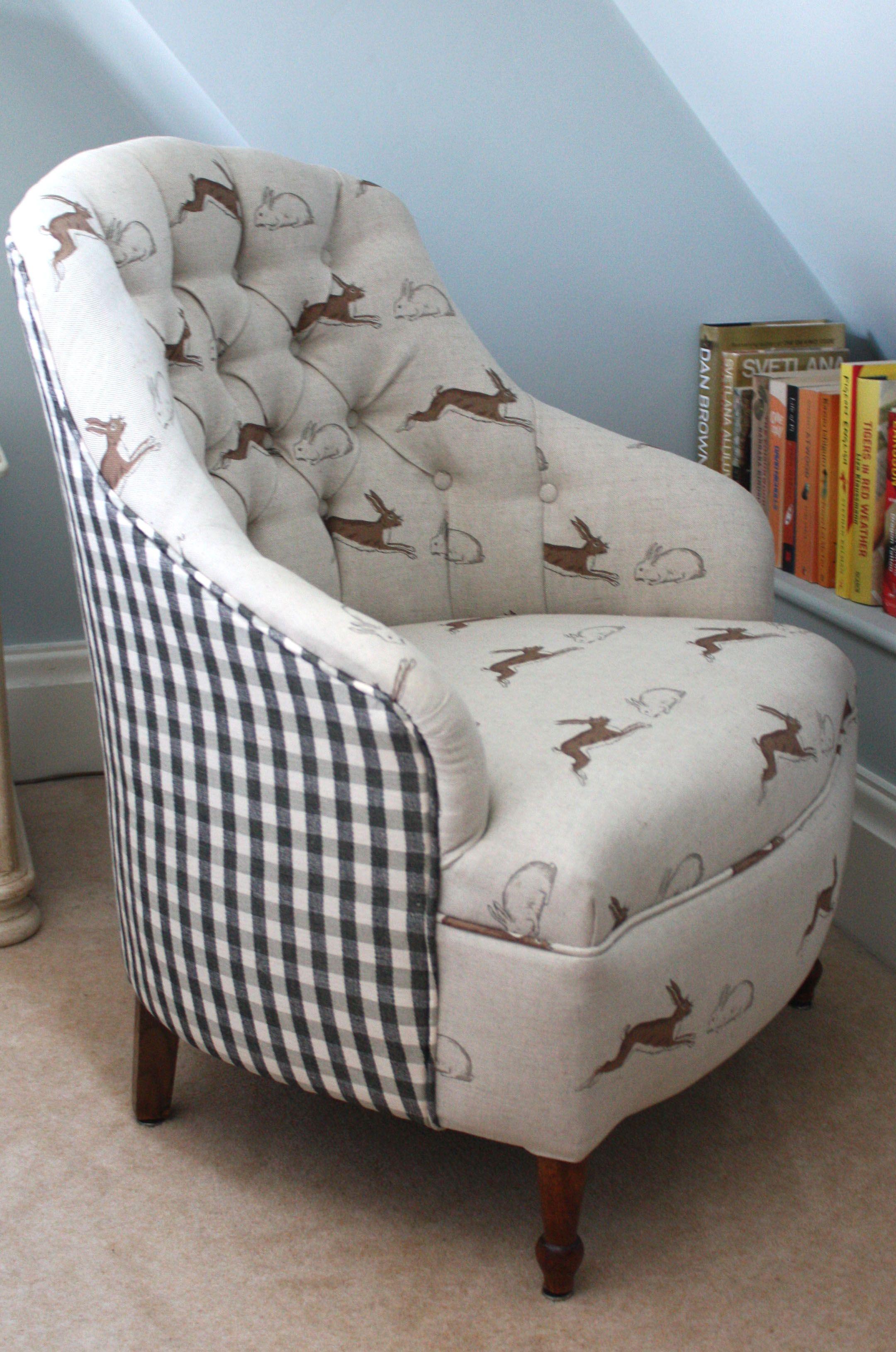 For Sale - Lovely bedroom chair, upholstered in Emily Bond's
