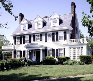 Colonial country style homes