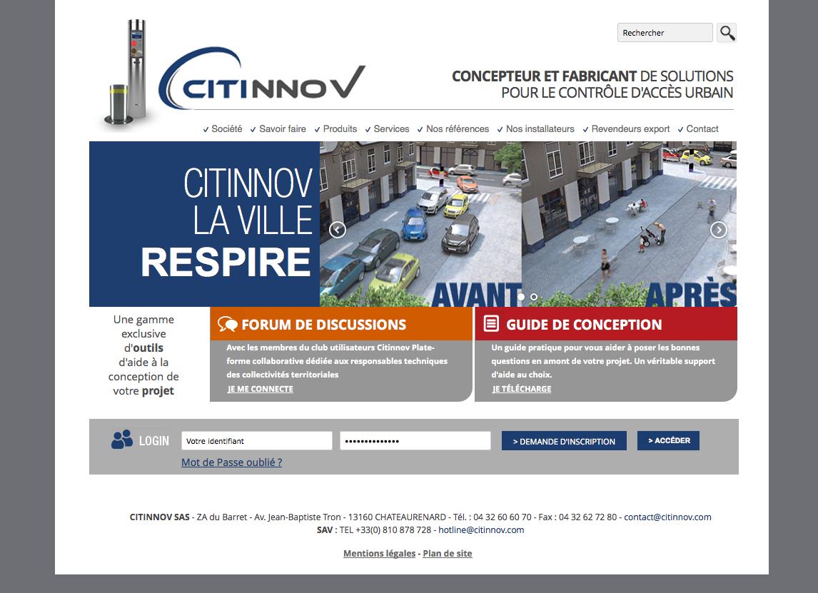 Réalisation d un site internet pour la société Citinnov - Concepteur et  fabricant de solutions fa6ebba213c2