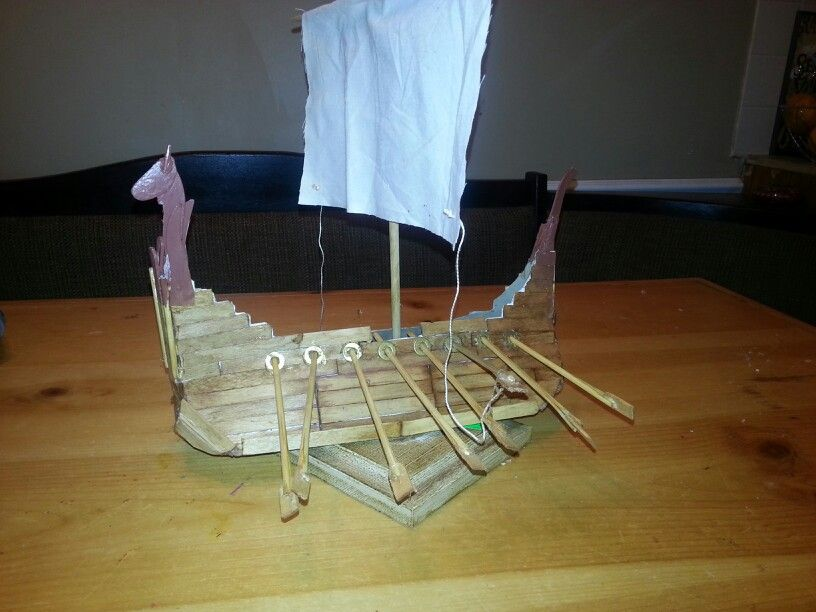 how to make a roman ship with popsicle sticks
