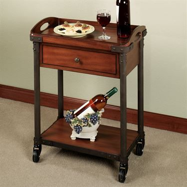 Levanzo Rolling Serving Cart with Tray
