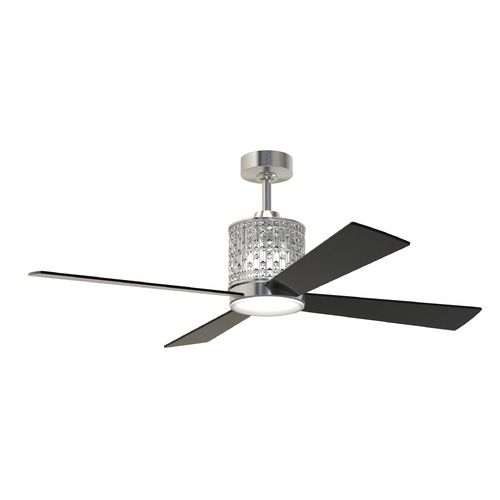 Craftmade lighting marissa brushed polished nickel led ceiling fan with light mar52bnk4