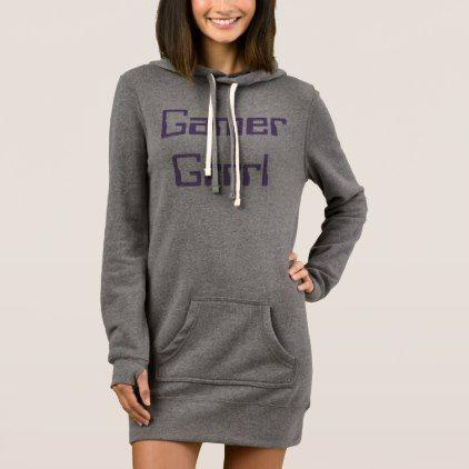 gamer grrl ladies black hoodie sweatshirt dress girl gifts special unique diy gift idea