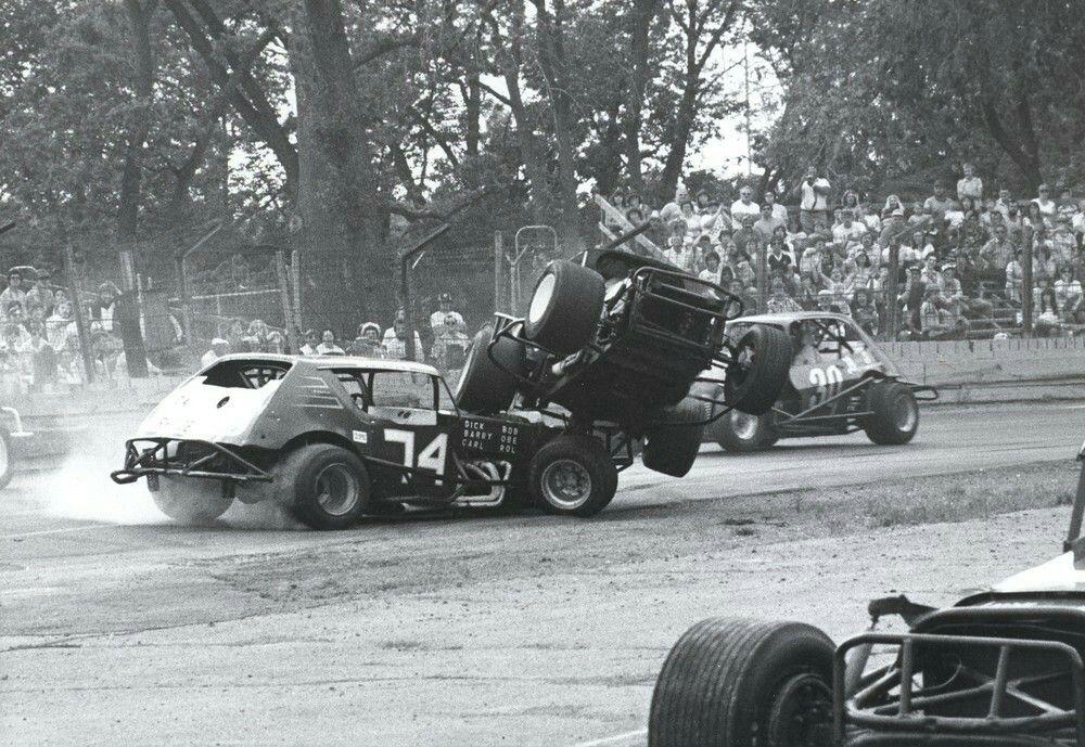 Action at Dorney Park Speedway in Allentown PA. | Vintage Auto ...