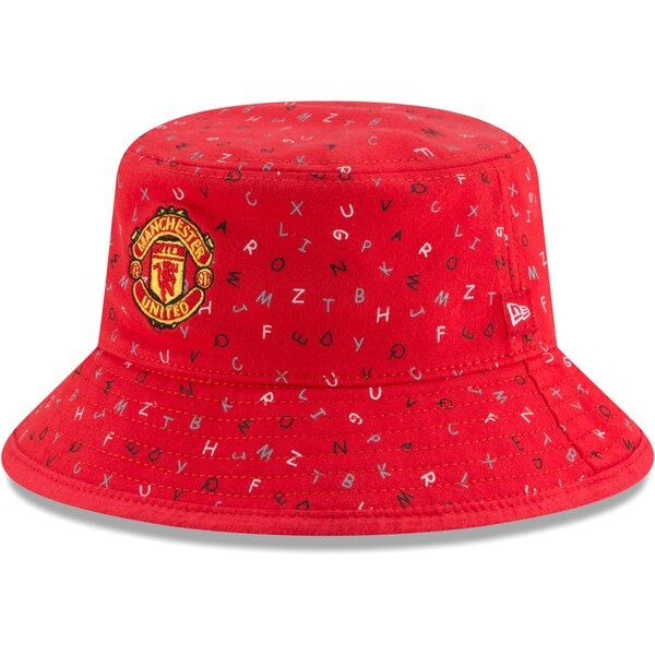 Manchester United New Era Toddler Alphabet Bucket Hat - Red #ManchesterUnited If there's one thing more adorable than your baby it's your baby wearing this Manchester United Alphabet bucket hat. New Era's hat combines your little one's future team with a cute alphabet pattern scattered across the hat for a fun-loving design. It offers great coverage against the sun keeping your little one cool throughout the day!