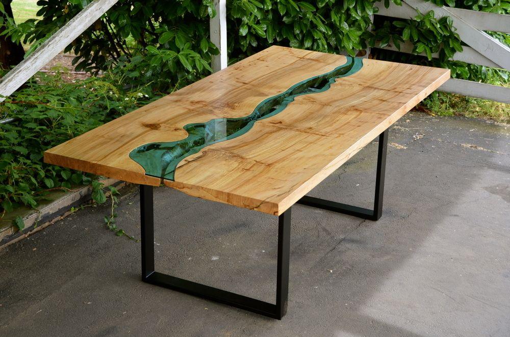 Mesa dise o madera maciza buscar con google mesas de for Diseno de mesa de madera con vidrio