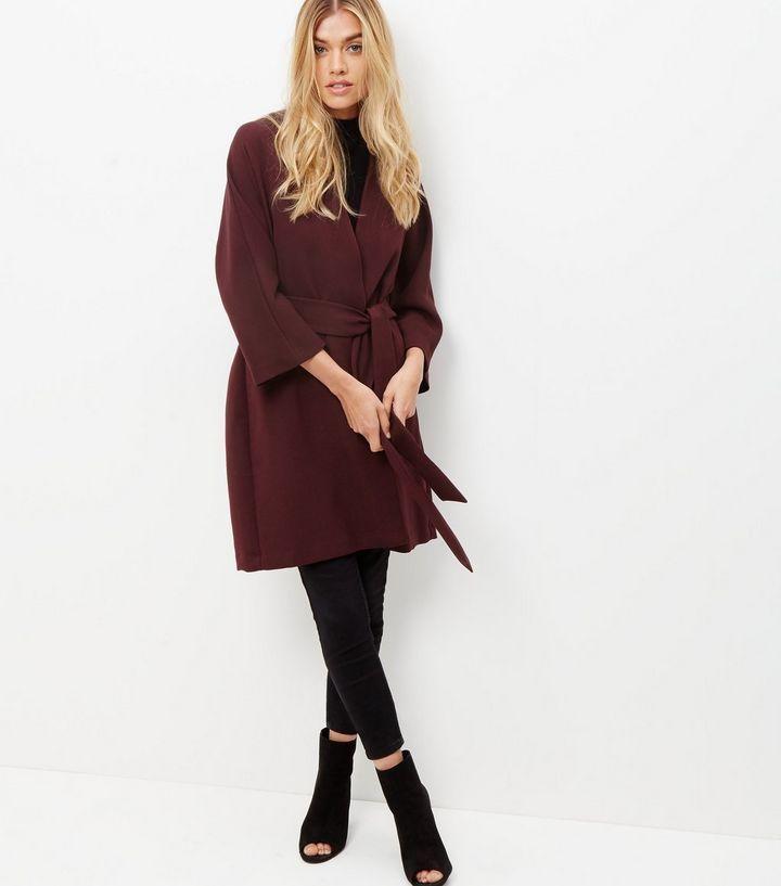 New Kimono Bordeaux By Look Ceinturée Veste wtq6x8y 2f7dc983822