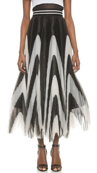 a580afa978 Nicole Pleated Maxi Skirt | BLACK and WHITE III | Maxi skirt black ...