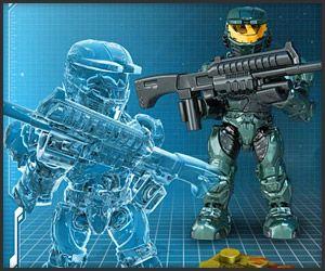 Halo Mega Bloks Set #97417 Metallic Series Silver ODST with DMR Rifle Figure