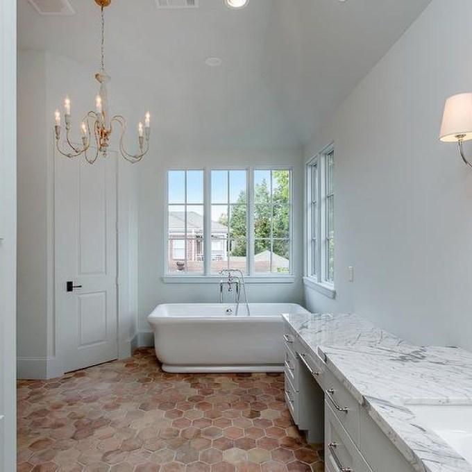 Bathroom Hexagon Terracotta Floor Tiles In 2020 Terracotta Tiles Bathroom Terracotta Floor Rustic Flooring