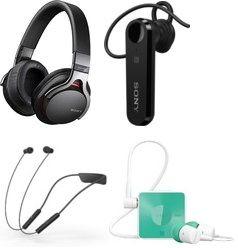 Sony Headphones Bluetooth Headsets At 50 Discount Lowest Price Online From Flipkart Headphones Bluetooth Headphones Latest Gadgets