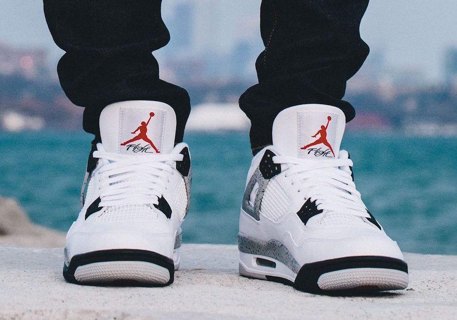 white cement 4 nike air