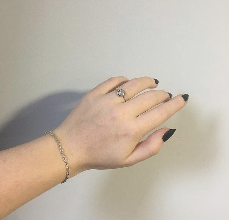 M o o n s t o n e M a d n e s s  We absolutely love Moonstone here at BMM and use it in our Mary Jane ring as worn here by the lovely @iamlozzx  Shop here  http://ift.tt/2oonkJ8 #bloodymarymetal #teambmm