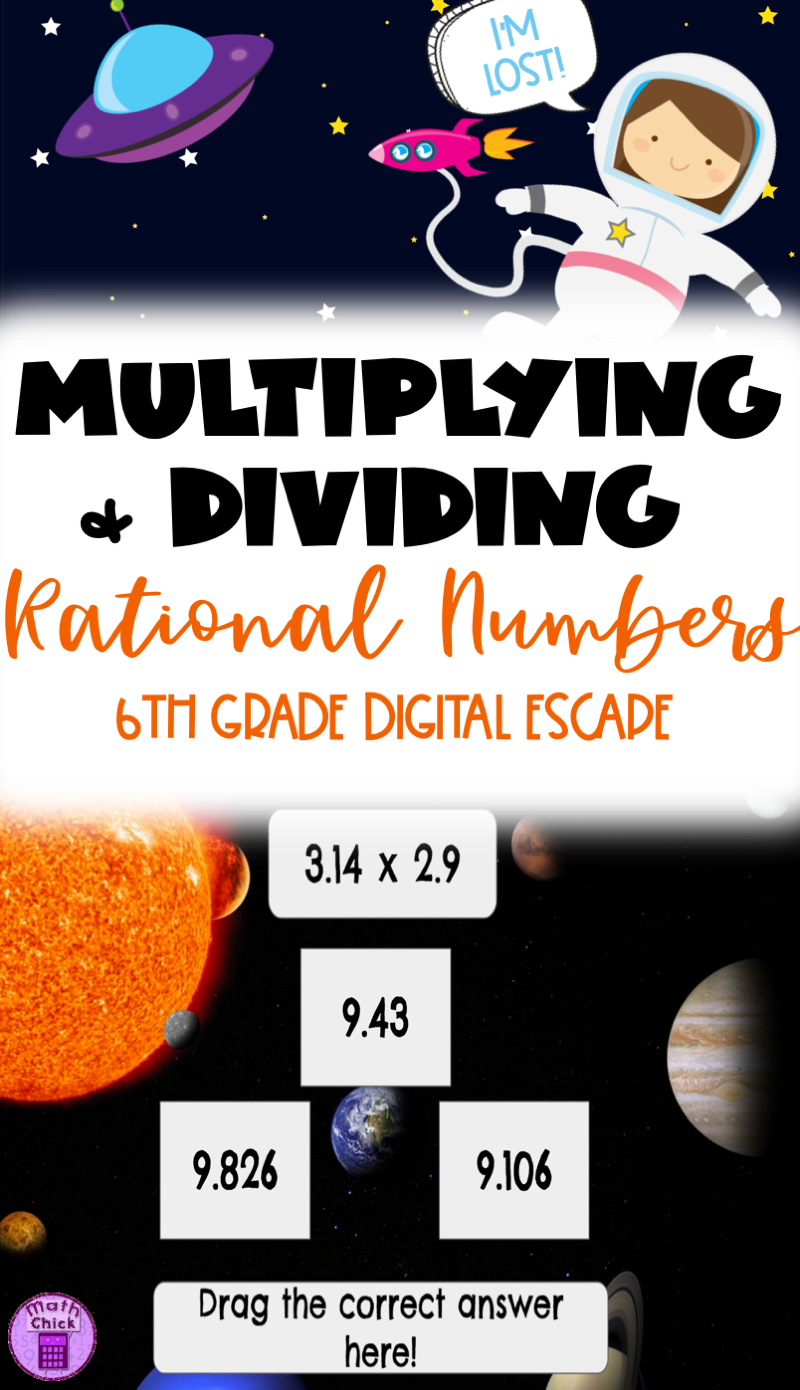 Lost In Space Digital Escape Breakout Multiply And Divide Rational Numbers Rational Numbers Dividing Rational Numbers Math Number Activities [ 1390 x 800 Pixel ]