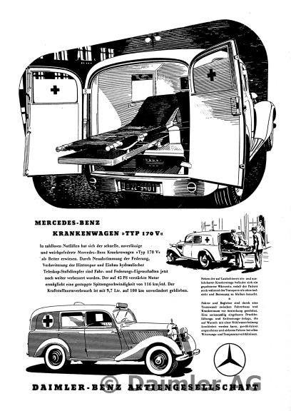 werbeanzeige daimler benz mercedes benz krankenwagen typ. Black Bedroom Furniture Sets. Home Design Ideas