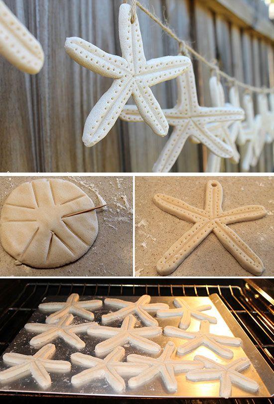 Diy Starfish Salt Dough Garland Diy Beach Wedding Ideas On A