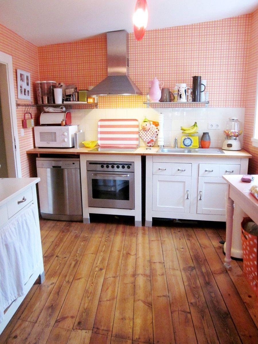 Schöne Küche // Holzdiele #Wohnideen | Ideas for a future Home ...