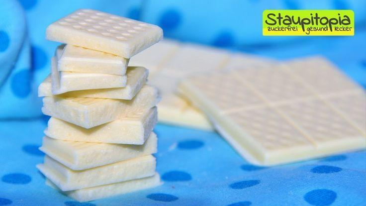 Schokolade selber machen: 5 Minuten - 3 Zutaten - 0 Zucker! Weiße Schokolade OHNE Zucker herstellen