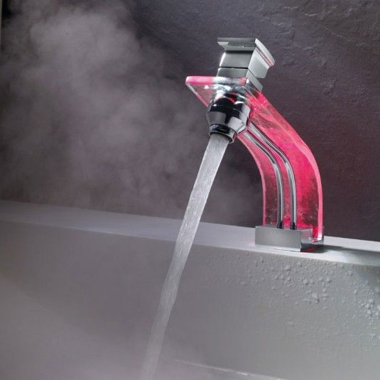 Semi Transparent Bathroom Faucet with LED Light | Marti