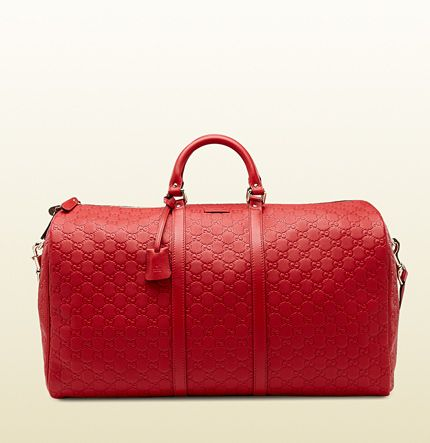 f2ae7e3656a Gucci red guccissima leather carry-on duffel bag