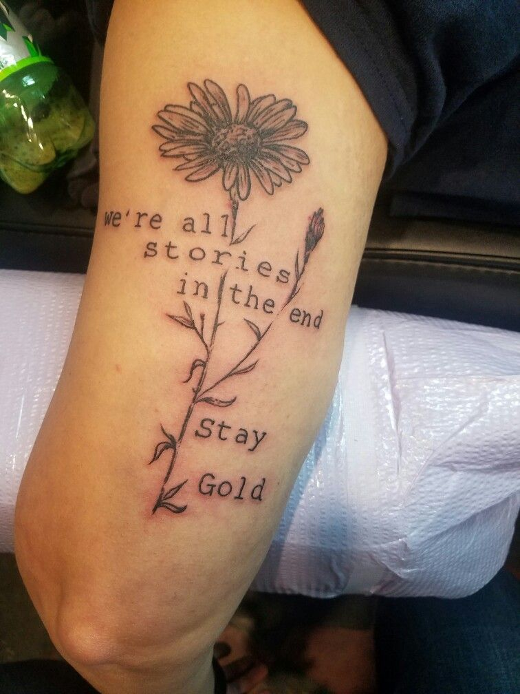 4e51486f1 The Outsiders-Stay gold. Artist: Cari Clark at True Blue Electric Tattoo in  Knoxville, Tn.