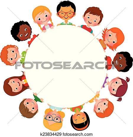 Kindern Von Freunde Von Welt Clip Art Kinder Figuren Friends