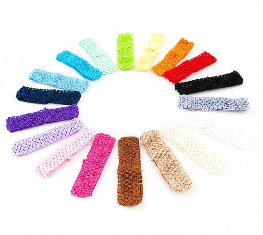 Ema Jane - 1.5 Inch Crochet Headbands (18 Pack)