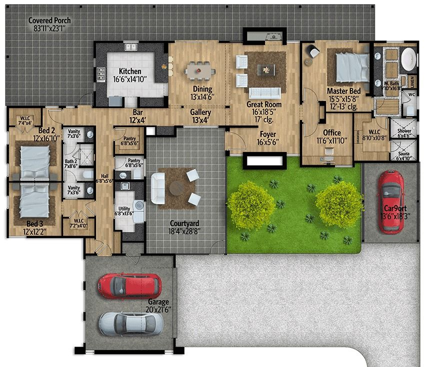 Mid Century Modern Home Designs: Plan 430010LY: Mid-Century Modern House Plan With
