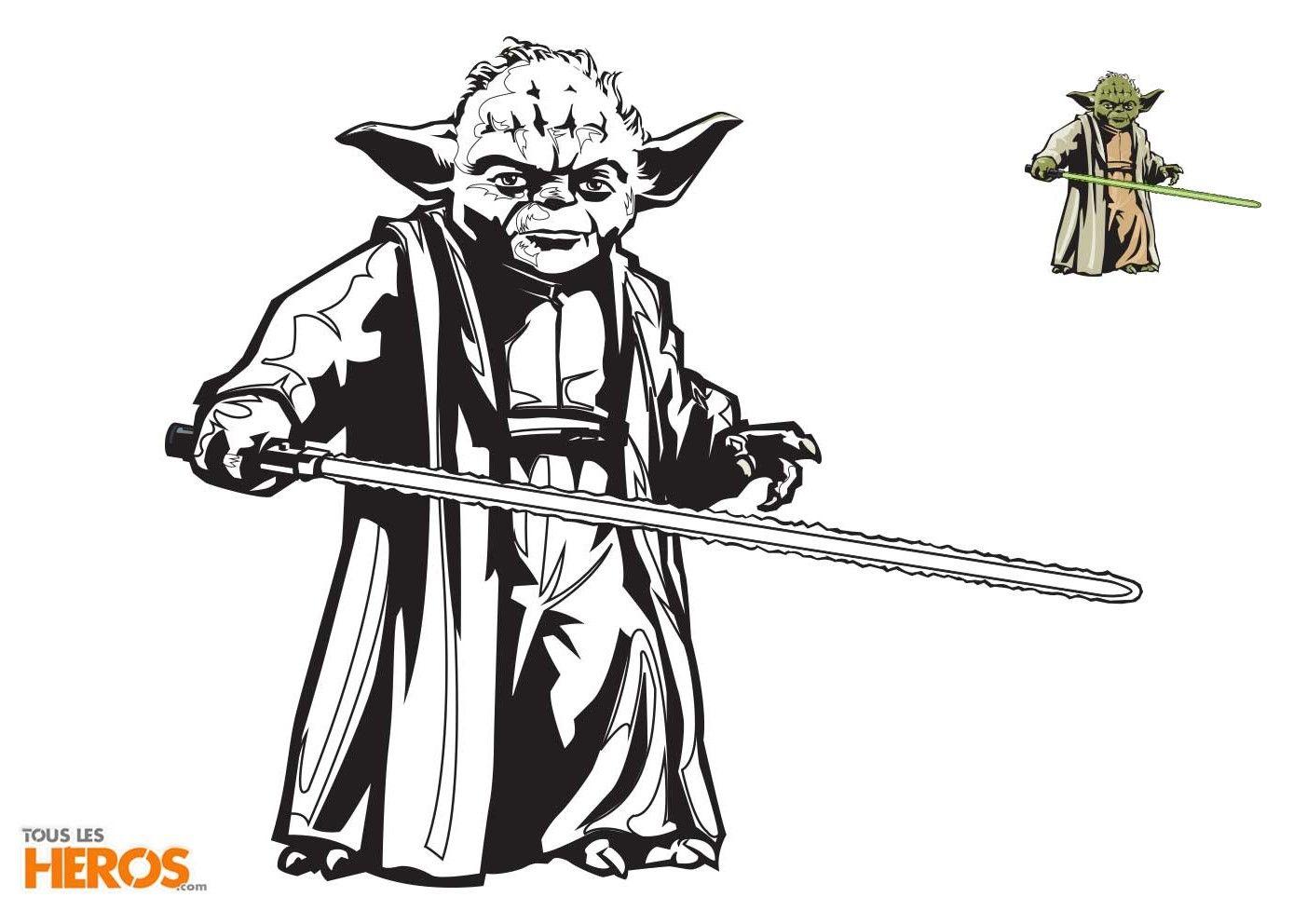 Coloriages Star Wars Coloriez Maître Yoda Le Meilleur Maître Jedi