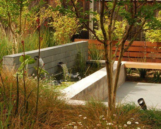 Kleingarten Herbst Gartenteich Ideen Pflege schöne Gestaltung Holz