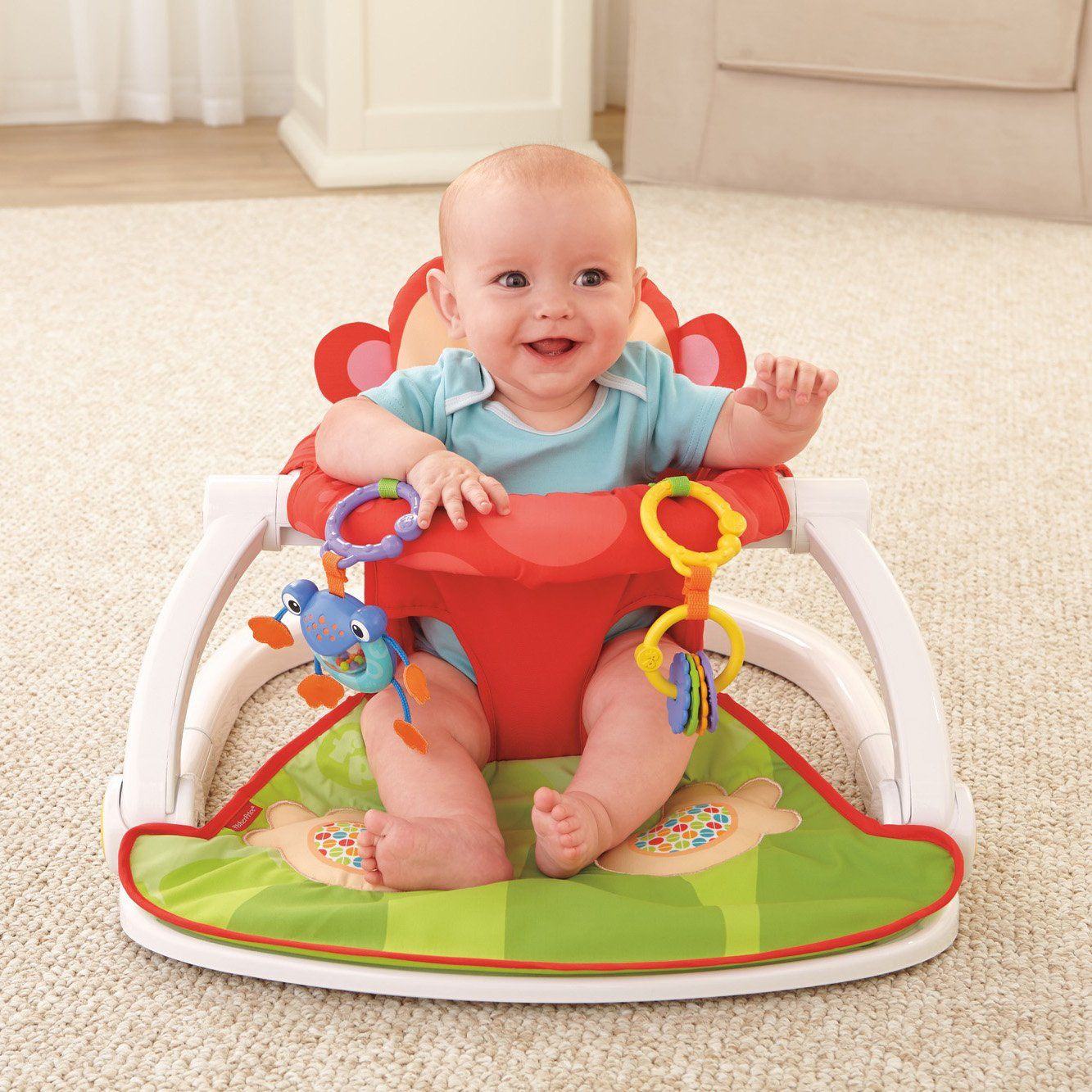 FisherPrice Deluxe SitMeUp Floor Seat * Be Sure To Check