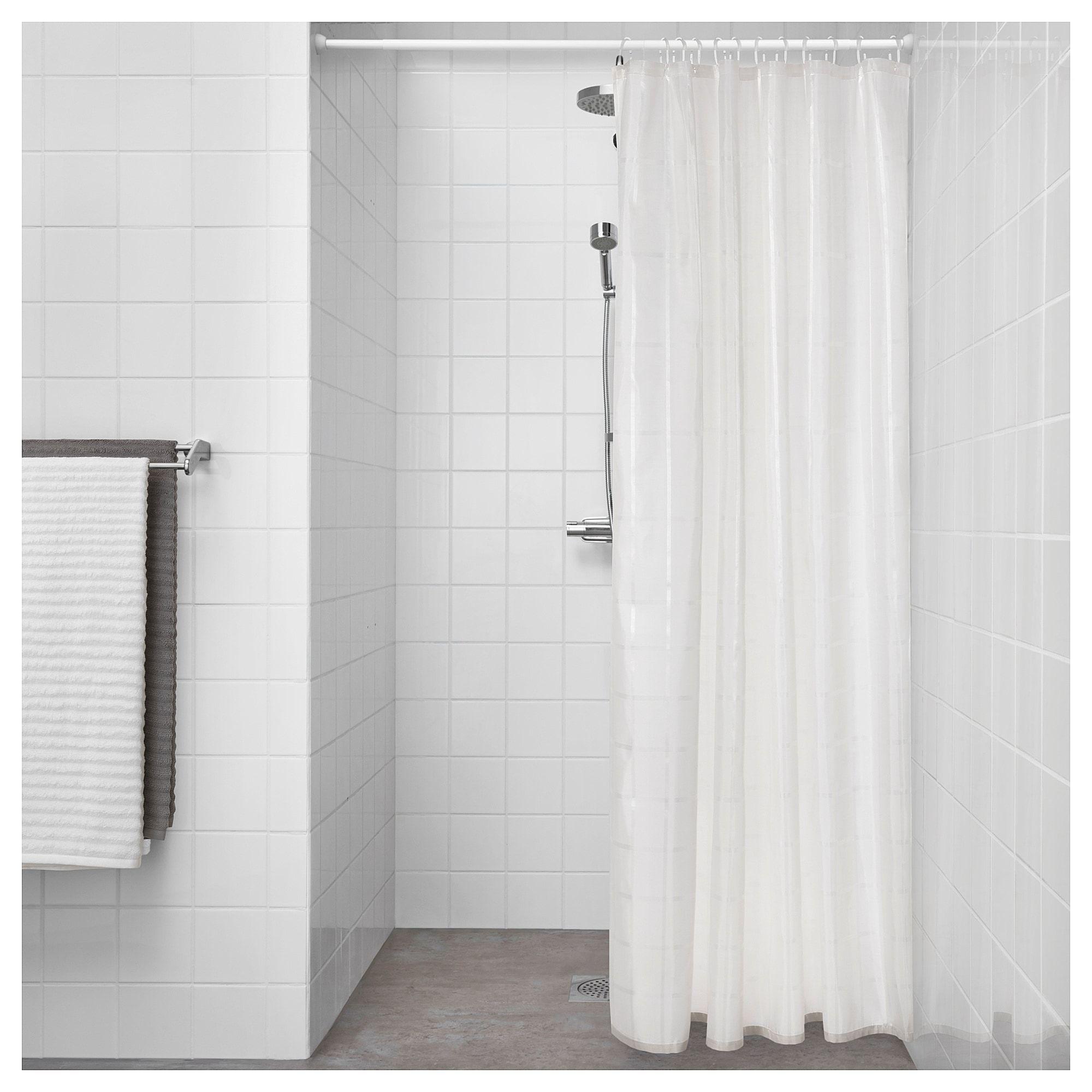 Klockaren Shower Curtain Off White 71x71 In 2020 Shower
