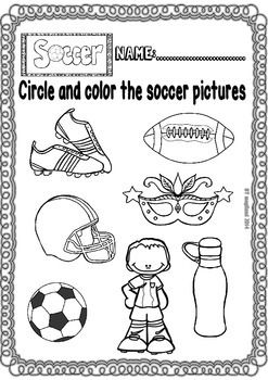Soccer Fun Set (Ready to print Worksheets for Maths and