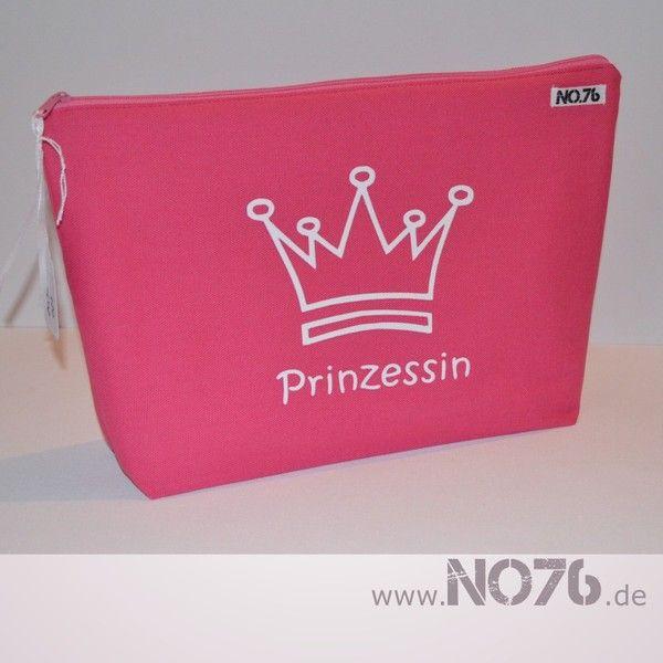 Kulturtasche - Prinzessin/ pink von No.76 auf DaWanda.com